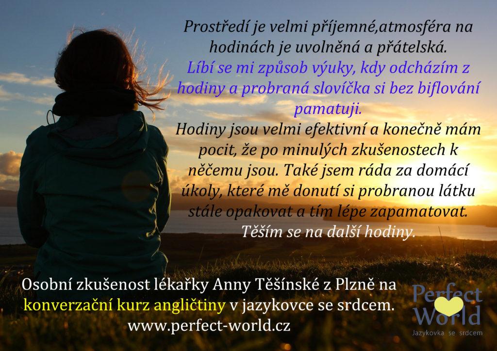 Reference Jazykové školy Plzeň - Perfect World - Anna Těšínská