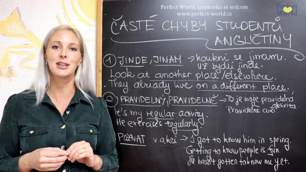 Časté chyby studentů v angličtině